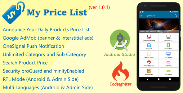 My Price List